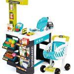 Smoby 350206 - Supermarkt mit Einkaufswagen, türkis/grün - 1