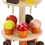 Small Foot Company 5261  Eisständer aus Schicht- und Massivholz, mit Eis in 15 verschiedenen Sorten , für den Kaufladen  design