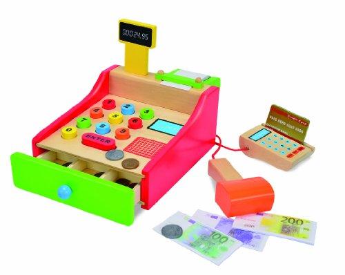 eichhorn 100003717 holz kasse 64 teilig mit kartenleseger t und scanner 16 5x26x16cm. Black Bedroom Furniture Sets. Home Design Ideas