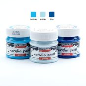 Acrylfarben Set glänzend 3x50ml - Set 12. Glanzfarbe, Bastelfarbe, Acrylfarbe