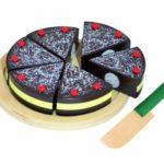 Tanner 0980.4 - Schokoladentorte aus Holz zum Schneiden mit Holzmesser