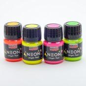 Acrylfarbe neon in Set 4x30ml Neonfarbe, Leuchtfarbe, Bastelfarbe, Acrylfarbe