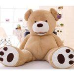 Hugme Riesen Teddybär XXL 200 cm groß samtig weich Kuscheltier für Erwachsene und Kinder