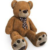 XL Kuschel-Teddybär groß in Braun - Kuscheltier Stofftier Plüschbär Teddy - 1